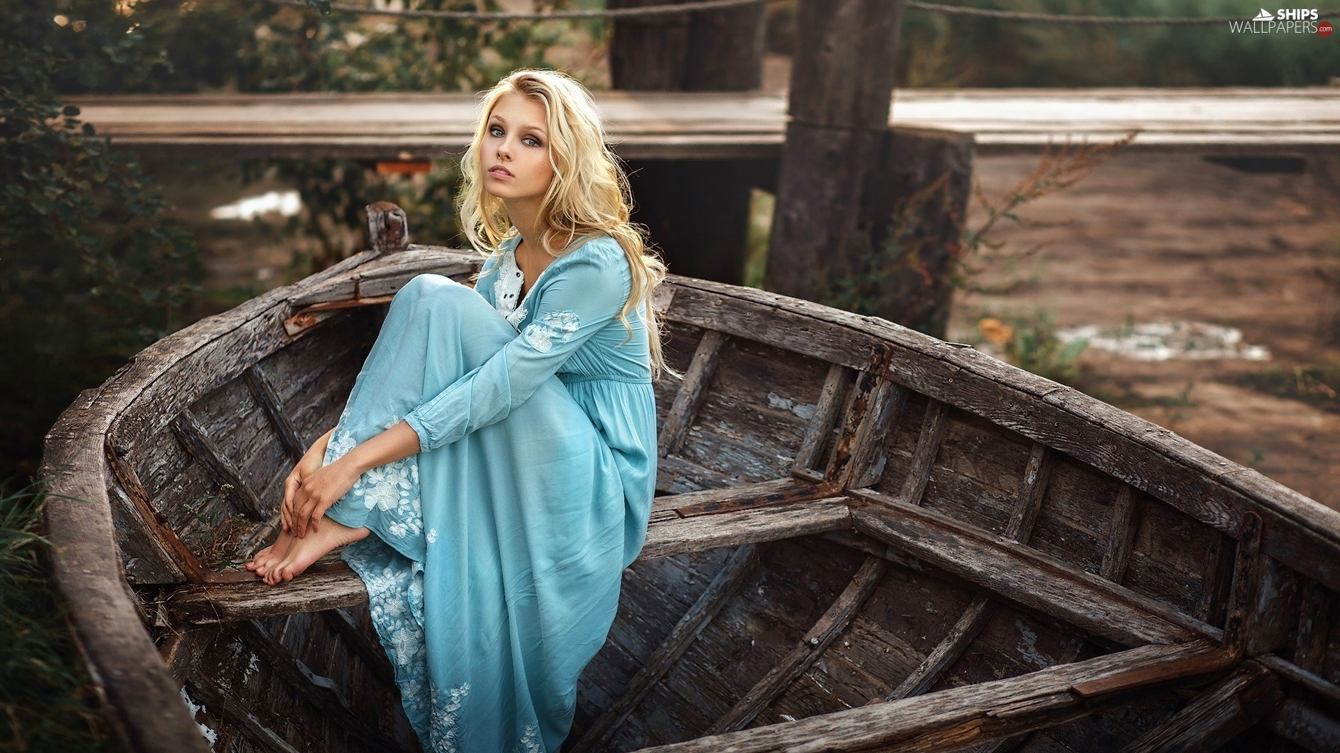 Women, Blonde, Boat, Alice Tarasenko