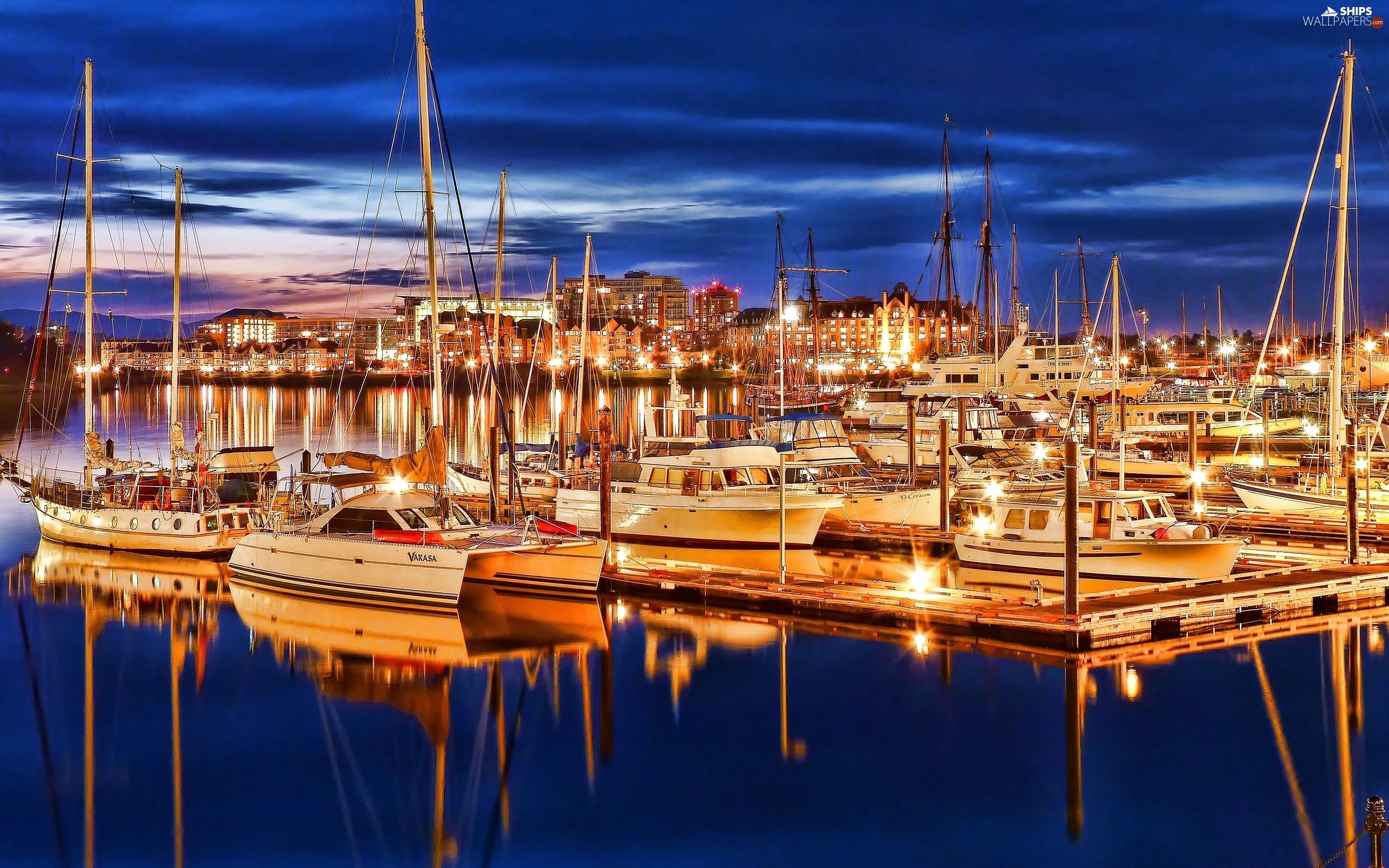 Yachts At Night Yachts: Yachts At Nigh...
