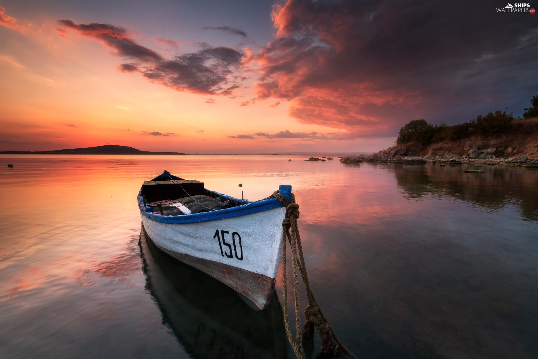 lake, Great Sunsets, Burgas, Boat, Bulgaria
