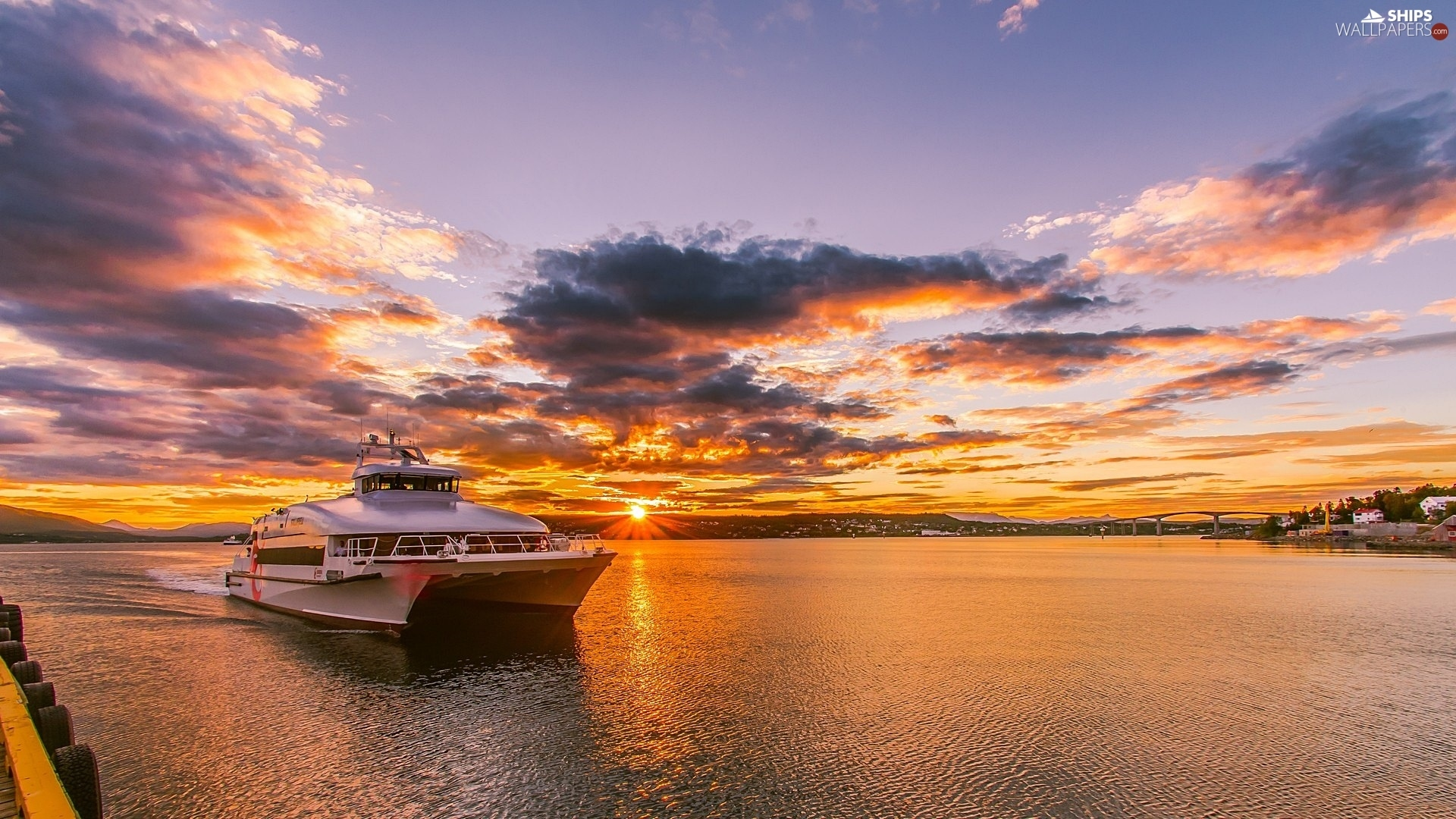 Great Sunsets, Catamaran, sea