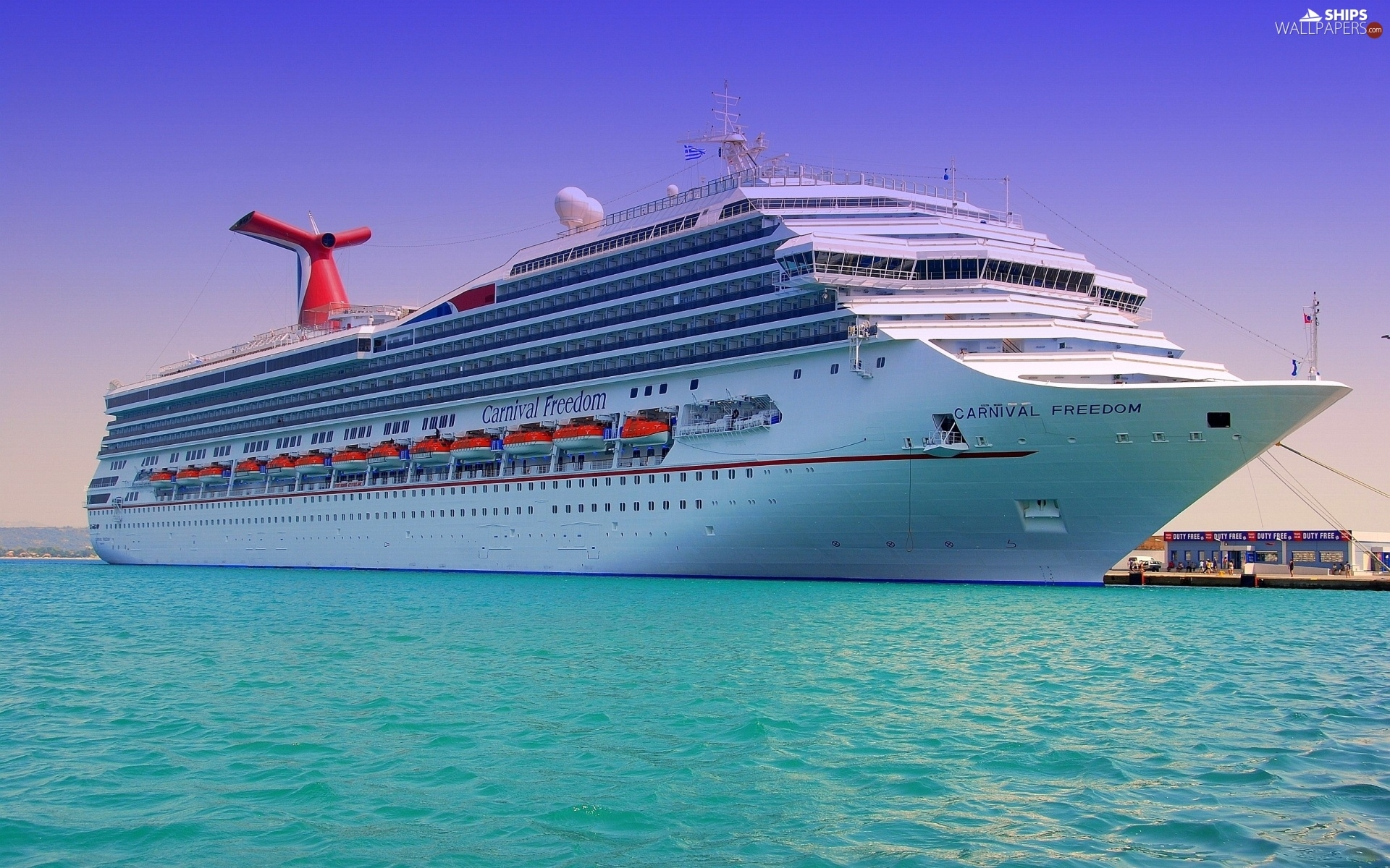 water, Carnival Freedom, cruise, azure, Ship