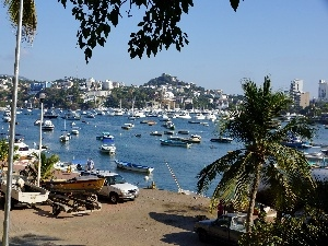 Acapulco, Mexico, Yachts, motorboat, sea