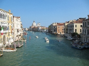 Beauty, canal, boats, Venice