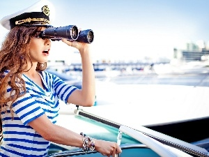 binoculars, costume, sailor