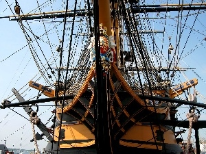nose, HMS Victory, galleon