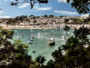 Cornwall, England, Gulf, The town of St Mawes, Yachts