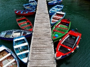 Harbour, boats, pier, color