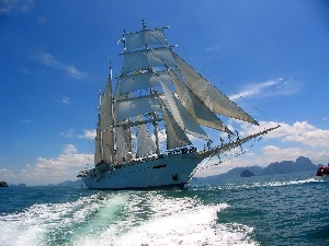 Star Clipper, modern, sailing vessel