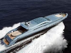 Fast, Mega yacht, sea, Luxury
