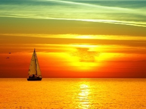 Great Sunsets, Yacht, sea
