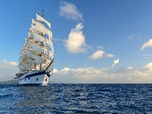 sailing vessel, sea, Ship