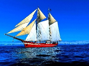 sea, sailing vessel